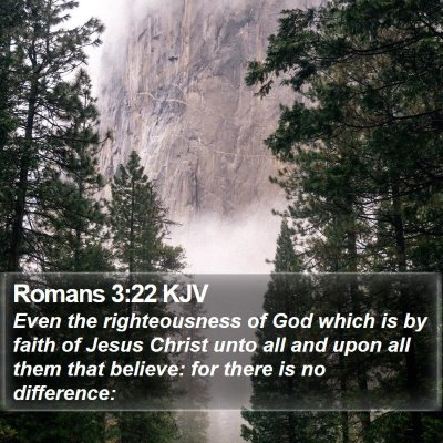 Romans 3:22 KJV Bible Verse Image