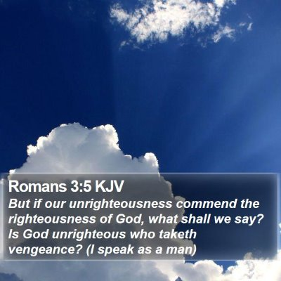 Romans 3:5 KJV Bible Verse Image