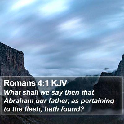 Romans 4:1 KJV Bible Verse Image