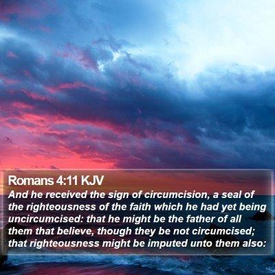 Romans 4:11 KJV Bible Verse Image