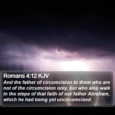 Romans 4:12 KJV Bible Verse Image