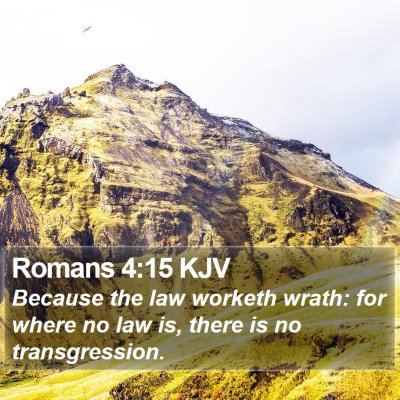 Romans 4:15 KJV Bible Verse Image