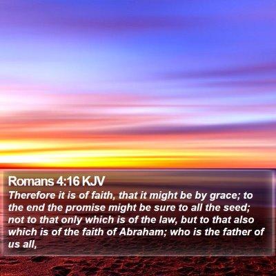 Romans 4:16 KJV Bible Verse Image