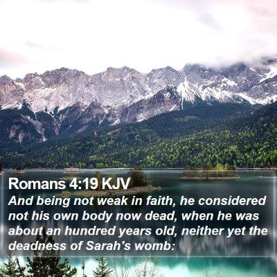 Romans 4:19 KJV Bible Verse Image
