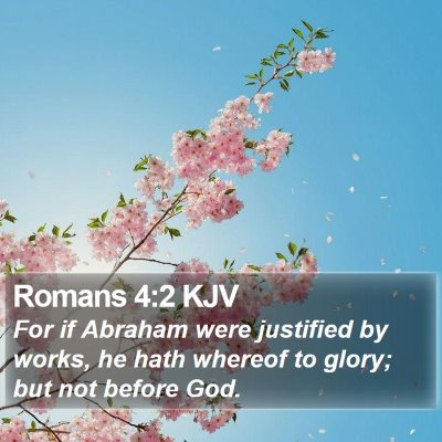 Romans 4:2 KJV Bible Verse Image