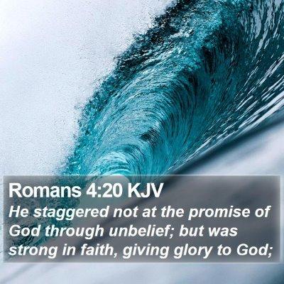 Romans 4:20 KJV Bible Verse Image