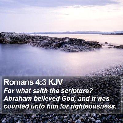 Romans 4:3 KJV Bible Verse Image