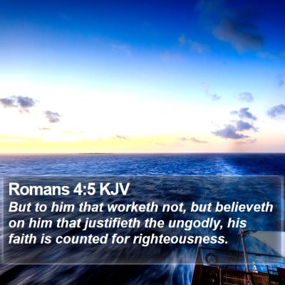 Romans 4:5 KJV Bible Verse Image