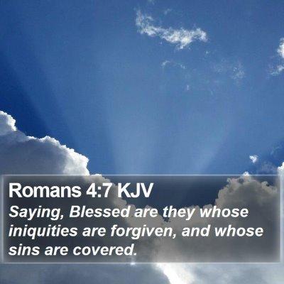 Romans 4:7 KJV Bible Verse Image