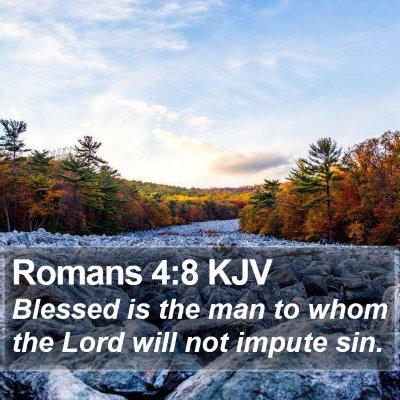 Romans 4:8 KJV Bible Verse Image