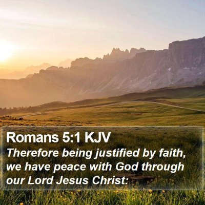 Romans 5:1 KJV Bible Verse Image