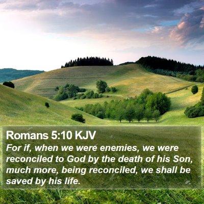 Romans 5:10 KJV Bible Verse Image