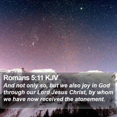 Romans 5:11 KJV Bible Verse Image