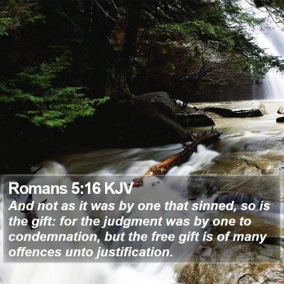 Romans 5:16 KJV Bible Verse Image