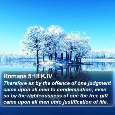 Romans 5:18 KJV Bible Verse Image