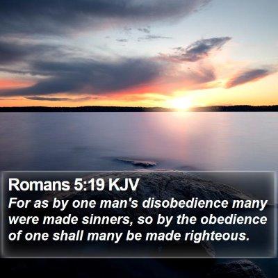 Romans 5:19 KJV Bible Verse Image