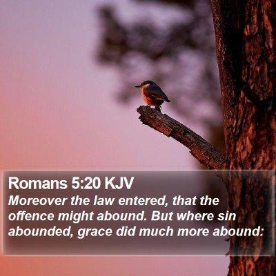 Romans 5:20 KJV Bible Verse Image