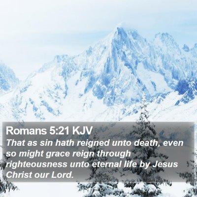 Romans 5:21 KJV Bible Verse Image