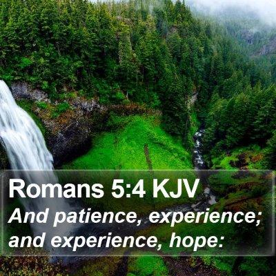 Romans 5:4 KJV Bible Verse Image