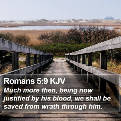 Romans 5:9 KJV Bible Verse Image