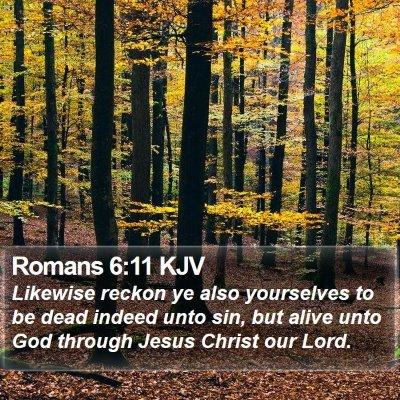 Romans 6:11 KJV Bible Verse Image