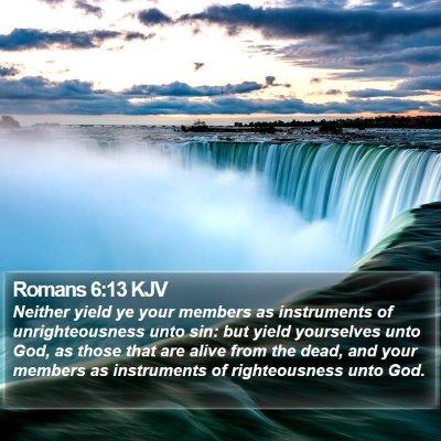 Romans 6:13 KJV Bible Verse Image