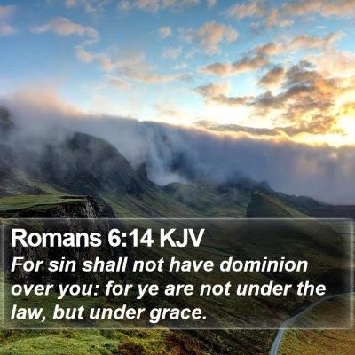 Romans 6:14 KJV Bible Verse Image