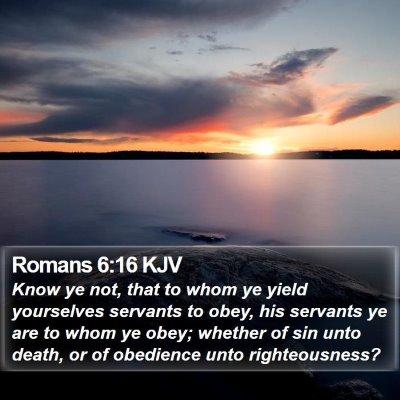 Romans 6:16 KJV Bible Verse Image