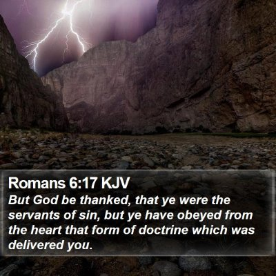 Romans 6:17 KJV Bible Verse Image