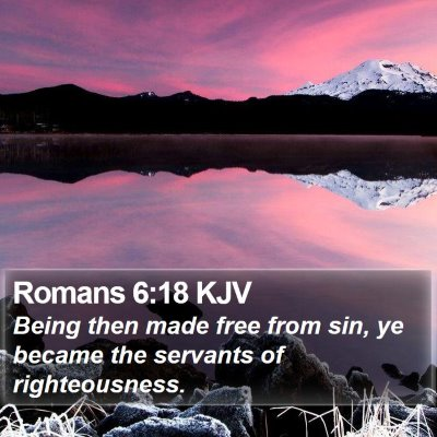 Romans 6:18 KJV Bible Verse Image