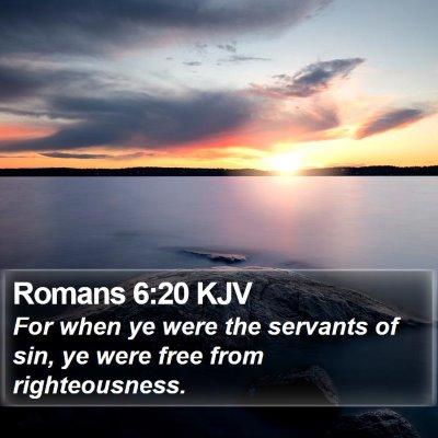 Romans 6:20 KJV Bible Verse Image