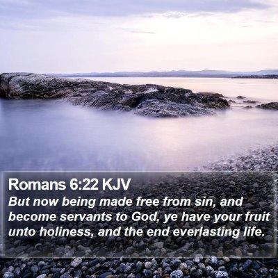 Romans 6:22 KJV Bible Verse Image