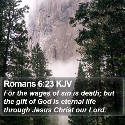 Romans 6:23 KJV Bible Verse Image