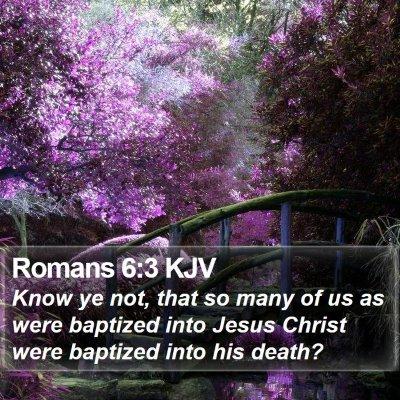 Romans 6:3 KJV Bible Verse Image