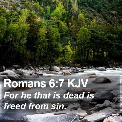 Romans 6:7 KJV Bible Verse Image