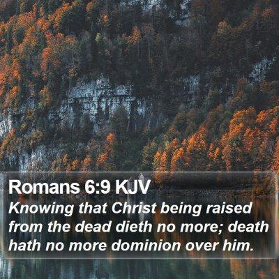 Romans 6:9 KJV Bible Verse Image