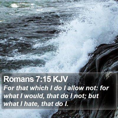 Romans 7:15 KJV Bible Verse Image