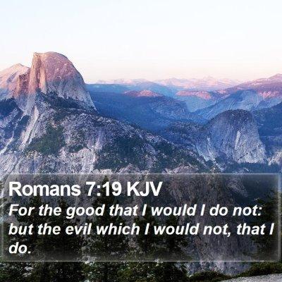 Romans 7:19 KJV Bible Verse Image