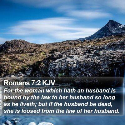 Romans 7:2 KJV Bible Verse Image