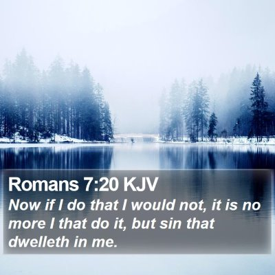 Romans 7:20 KJV Bible Verse Image