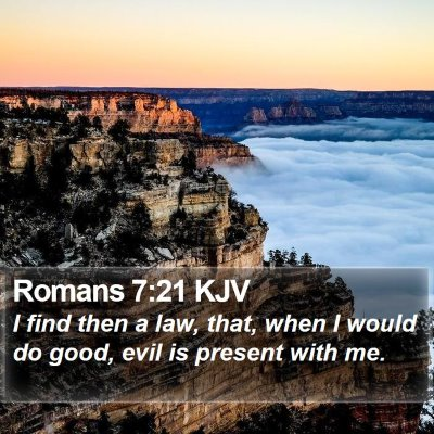 Romans 7:21 KJV Bible Verse Image