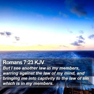 Romans 7:23 KJV Bible Verse Image