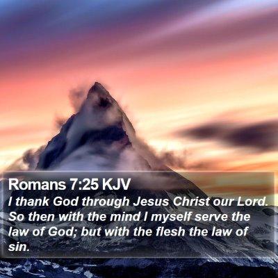 Romans 7:25 KJV Bible Verse Image