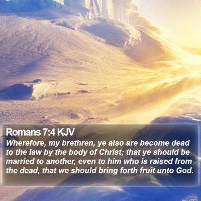 Romans 7:4 KJV Bible Verse Image