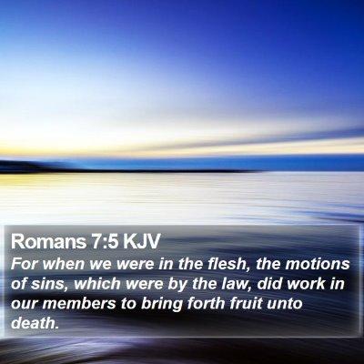 Romans 7:5 KJV Bible Verse Image
