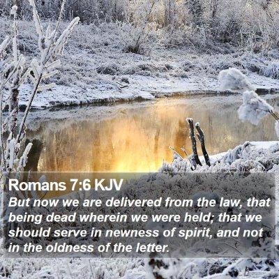 Romans 7:6 KJV Bible Verse Image