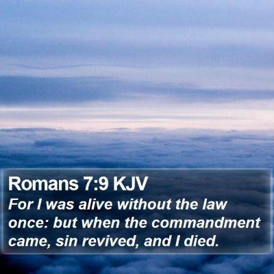 Romans 7:9 KJV Bible Verse Image