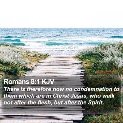 Romans 8:1 KJV Bible Verse Image