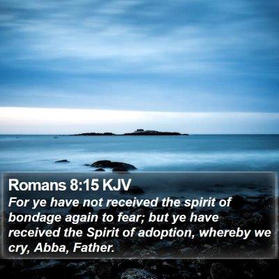 Romans 8:15 KJV Bible Verse Image