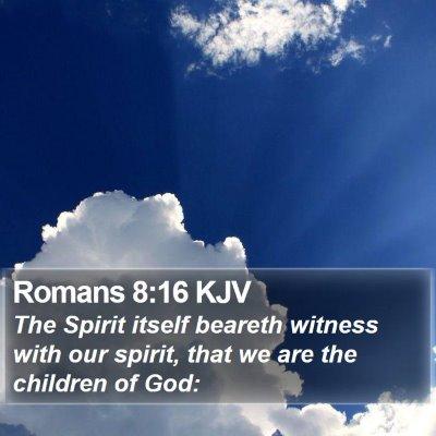 Romans 8:16 KJV Bible Verse Image
